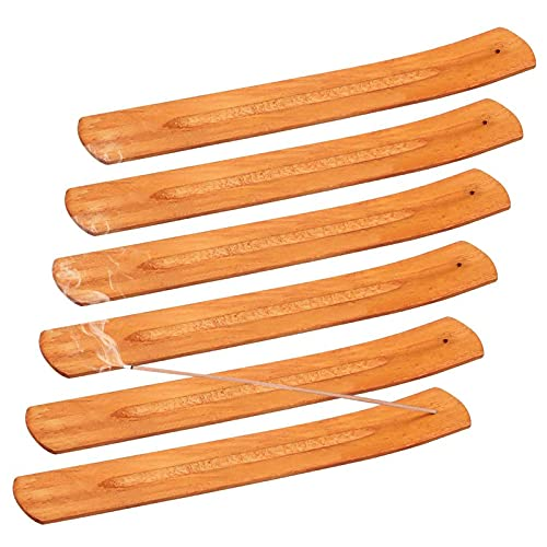 Porta-Incienso de Madera Bambú Quemador de Incienso Incienso Ash Catcher Recogedor de...