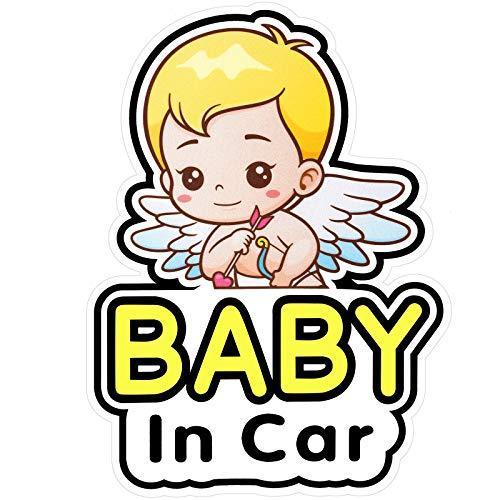 2 Stück Baby in Auto Aufkleber Zeichen und Aufkleber Abnehmbare Sicherheit Aufkleber Anschlagtafel, niedlichen Baby Fenster Auto Aufkleber an Bord Aufkleber, Reflektierend und Wasserdicht