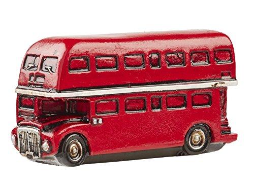 Dubbele dekker bus ca. 6 x 3 cm.