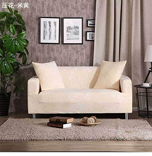Allenger 1 Protector elástico para Muebles,Stretch Pattern Sofa Cover, Seat Cover with armrests, Non-Slip Furniture Cover, Machine Washable-Beige_235-300