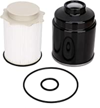Diesel Fuel Filter Water Separator Set for Dodge Ram 2500 3500 4500 5500 Trucks with 6.7L Cummins Turbo Diesel Engines Years 2013, 2014, 2015, 2016, 2017, 2018 - Replace # 68197867AB / 68157291AA