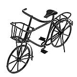 Handgemachtes 1:12 Puppenhaus Miniatur Metall Fahrrad Bycycle Modell - 8.2 * 4.5cm - Schwarz