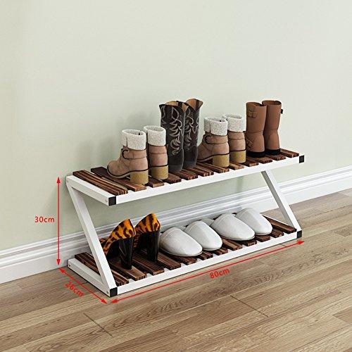 WENZHE étagères à chaussures Support Meubles Chaussons Rack Pantoufles Woody Metal Multifonction, 4 Couleurs, 16 Tailles (Couleur : Black#1, taille : 3 layers)