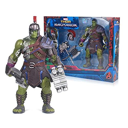 LIANGLMY Figur 20 cm Original Hulk Ragnarok Hände Bewegliche War Hammer Battle Axt Gladiator Hulk Action Figure Modell Spielzeug Geschenk (Color : with Box)