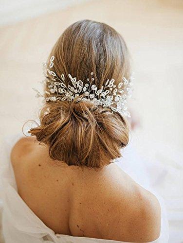 Handmadejewelrylady - Peigne vintage avec chaîne et strass pour mariage - Pour femme