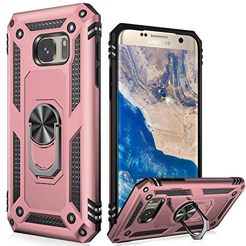 LUMARKE Galaxy S7 Case,(NOT for S7 Edge) Pass 16ft Drop Test Military Grade Heavy Duty Cover with Magnetic Car Mount Holder Kickstand,Protective Phone...