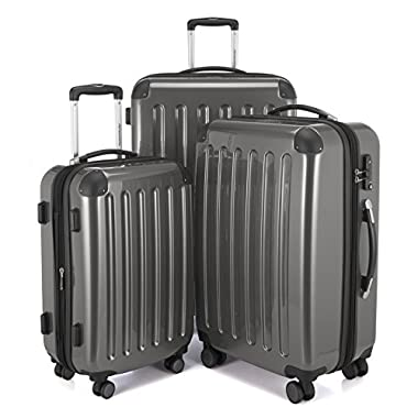 HAUPTSTADTKOFFER Luggages Sets Glossy Suitcase Sets Hardside Spinner Trolley Expandable (20', 24' & 28') TSA (Titan)