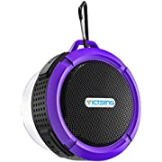 VicTsing Mini Portable Speaker with Microphone, Wireless, Bluetooth, Waterproof, 3.0Mini, 3W,, Hands-Free System for Shower, Pool, Car, Compatible with Apple iPhone 4/4s/5/5S/5C, S4, iPad, iPod, MP3, MP4, Tablet PC, Choice Between 10Colours