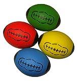 Balones de rugby de espuma suave para niños, pack de 4