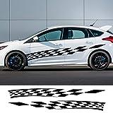 2 Uds Pegatina De Vinilo Lateral para Puerta De Coche para Kia Sportage Rio para Ford Focus 2 3 Mk2 Mk3 para Fiat Punto