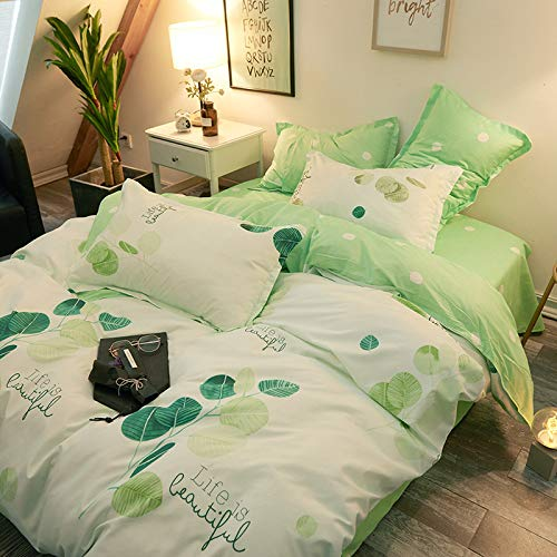 GYZBY Four-Piece Set Of Bedding Matte Active Printing Imitation Cotton Bedding Aloe Cotton