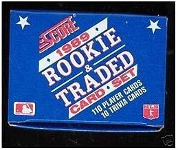 1989 Score Baseball Rookie & Traded Complete Box Set Ken Griffey Jr. Rookie Card