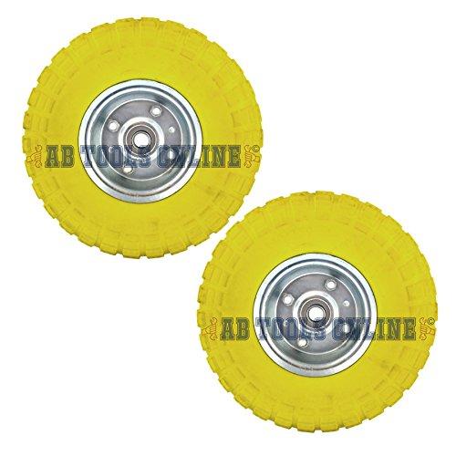 2 x10 Solid Rubber Tyre Wheel Foam Filled Sack Truck Trolley Cart...