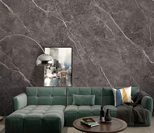 WLXCQTY Moderno, Minimalista, atmosférico, Placa de mármol Mural con Textura, práctica, despegable Instalación Muebles Uso geométrico Impresiones de imitación extraíbles Decoración Etiqueta