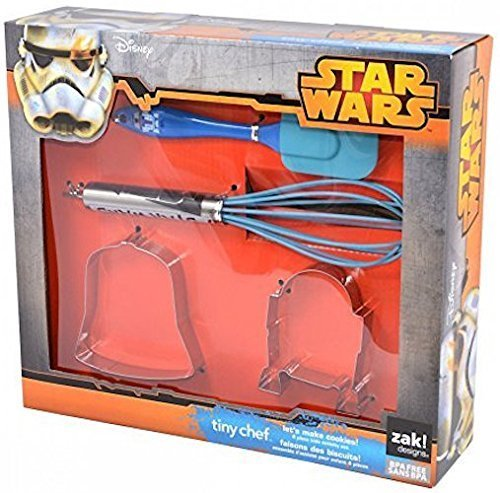 Zak Designs Star Wars Cookie Cutters, Spatula and Whisk 4-pc Set, Star Wars