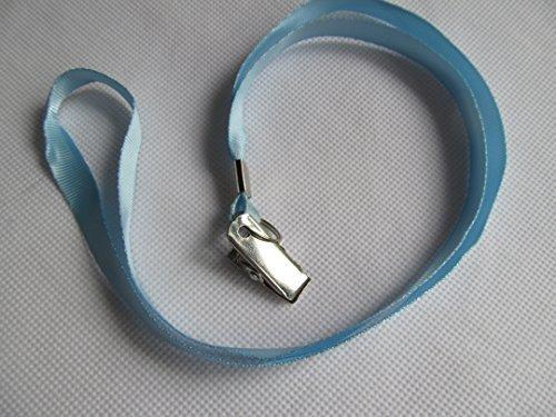 Ciel Bleu ID carte Lanières Cou Support avec métal acier inoxydable clip - Par Fat-Catz-copy-Catz - 1 x cordons bleu