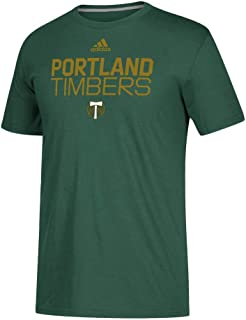 adidas Portland Timbers MLS Go to Performance Line Play Green Short Sleeve Tee