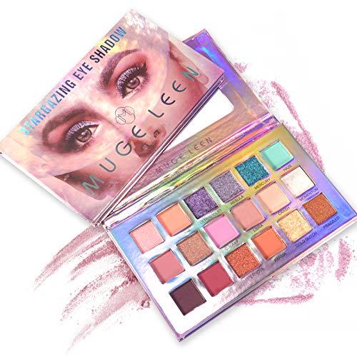ONLYOILY 18 couleurs Palette Ombres Paupire Ultra Shimmer Matte Pigmente, Palette de Maquillage Fard Paupire Palette Fard...