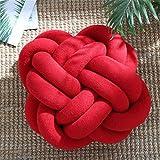 Geknotetes Kissen New Sofa Kissen Büro Siesta Craft Kissen, Acryl- und Polyesterfaser., Rot (Big...