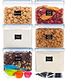 Airtight Food Storage Containers with Lids- HOOJO 6 Piece (3.3QT / 122oz / 3.6L) Plastic Containers...