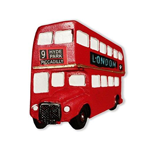 #Da Routemaster, Londra Route 1/Master/9/9/9 n. in poliresina, motivo: autobus inglese, Magnete per Speicher/Memoria look!, motivo British-Magnete da! (What a Memorable e conveniente London Souvenir! Aimant/Magnet/calamite Imán S01!