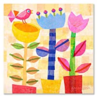 Oopsy Daisy Spring Jazz Square Stretched Canvas Art by Gale Kaseguma, 21 by 21-Inch by Oopsy Daisy