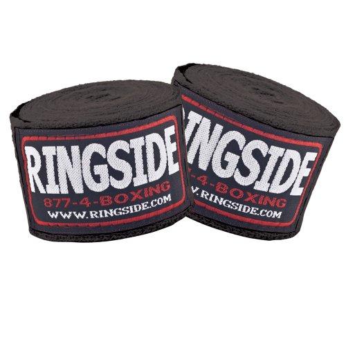 Ringside Cotton Standard Boxbandagen (schwarz)