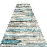 GJIF Alfombra de pasillo Resistente al Desgaste geométrico se Puede Cortar la Alfombra Lavable del Pasillo Antideslizante, Longitud Personalizada (Size : 1x3m)