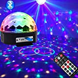Luz de discoteca Bola mágica de discoteca Luz de escenario Ktv Flash Luz de control de sonido Control remoto de 9 colores Barra de control de Bluetooth Decoración de fiesta Rendimiento de escenario