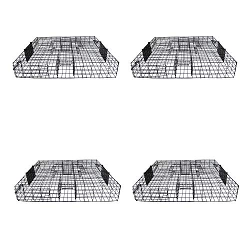 Rugged Ranch SQR Squirrelinator Live Chipmunk Squirrel Rat Mouse Rodent Small Animal Metal Wire 2 Door Trap Cage, Black (4 Pack)