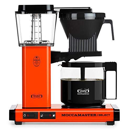 Moccamaster Filter Kaffeemaschine KBG Select, 1.25 Liter, 1520 W, Orange