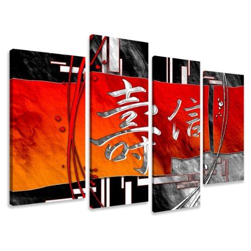 Cuadros en Lienzo Chino 130 x 80 cm Modelo Nr. 6170 XXL Las imágenes Estan Listas, enmarcadas en Marcos de Madera auténtica. El diseño de la impresión artística como un Mural Enmarcado.