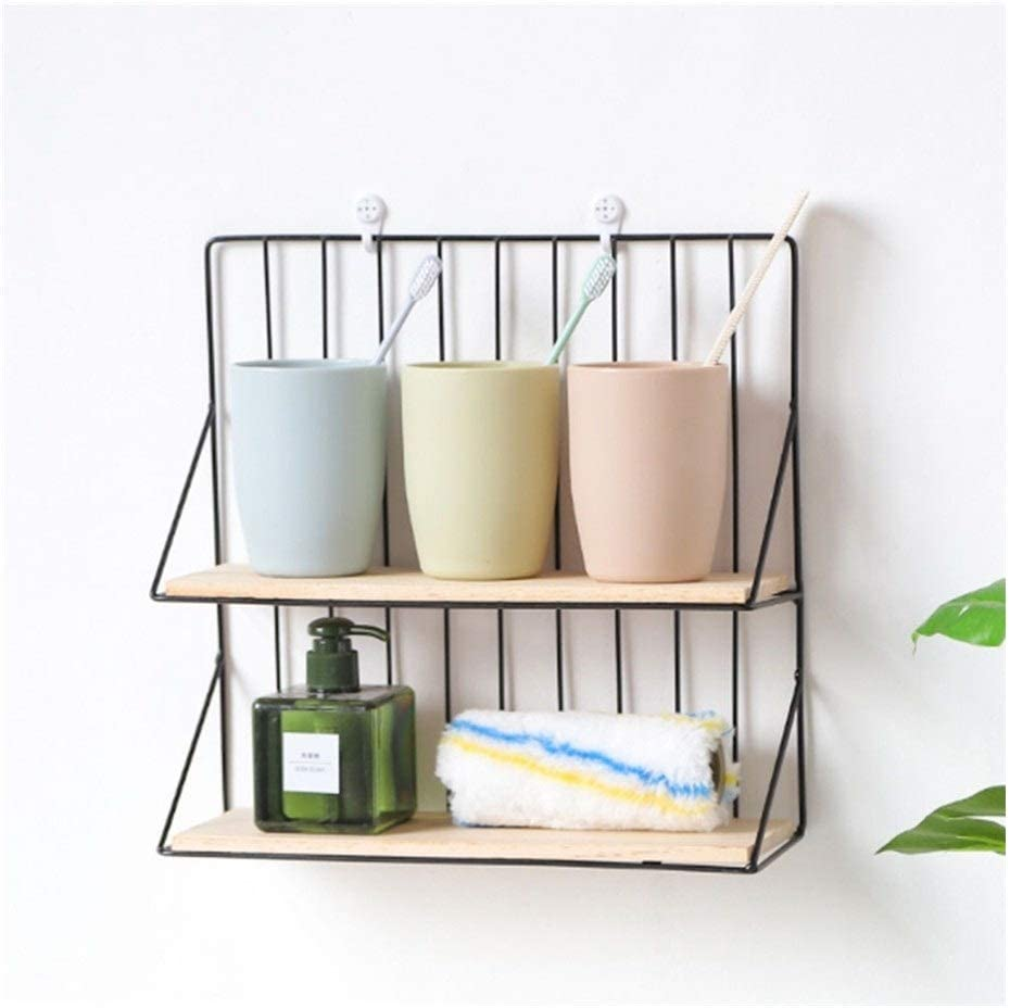 Popular standard Max 83% OFF Furren Floating Shelves Double Layer C Wall for