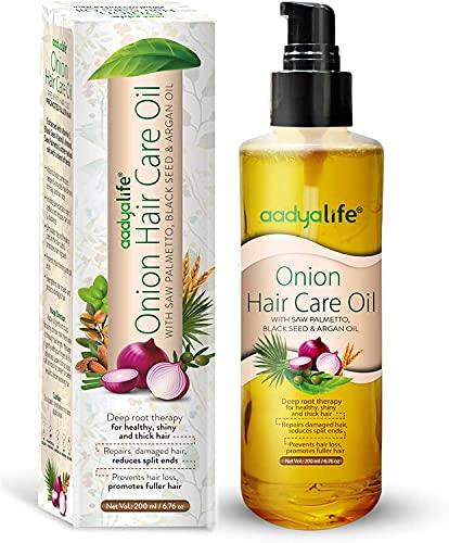 Lökhårvårdsolja 200 ml || För underbart, friskt, glänsande långt hår || Förbättrad med sågpalmetto, svart frö & arganolja (förpackning med 1 (1 x 200 ml)) (2-pack)
