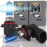 Mega Racer 9145/H10/9140/9155 Halogen Fog Light Headlight Bulbs 12V 100W 5000K Super White Xenon OEM Replacement Head Light, Pack of 2