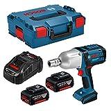 Bosch Professional Boulonneuses Sans-Fil GDS 18 V-LI HT (18V, 2 Batteries 5,0 Ah, Ø des vis M 12 – M 20, Couple max. : 650 Nm, L-Boxx)