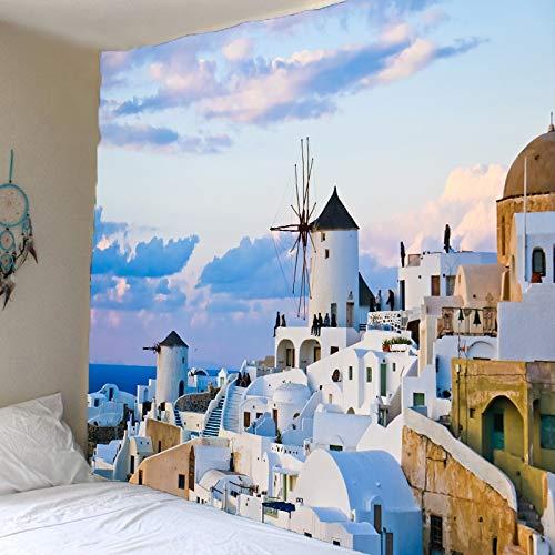 WERT Tapiz Colgante de Pared Estilo Boho decoración de Dormitorio Hippie brujería Tapiz psicodélico Manta de Playa A4 150x130cm