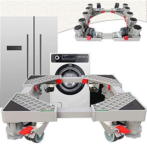Socle Lave Linge, Base de Machine à Laver Réglable Acier Inoxydable Support de Réfrigérateur Multifonction Stent pour Sèche-Linge Distributeur Automatique, Anti-Vibration