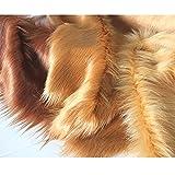 Marrón Tela De Piel Sintética 150 × 50 Cm Pila Larga 90 Mm Tejido De Pelusa Suave para Artesanía Bricolaje Accesorios Decoración Vestuario Hobby Fondos Cosplay(Color:Caqui)