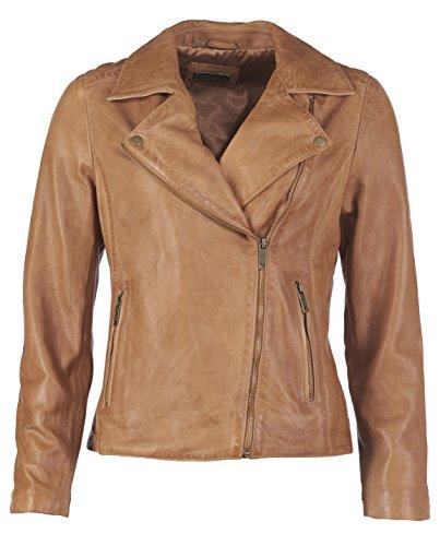 JCC Damen Lederjacke Im Biker Stil 1703 Cognac 40