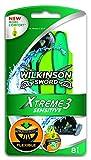 Wilkinson Sword - Xtreme 3 Sensitive - Maquinillas de afeitar desechables para hombre para pieles sensibles - Pack 8 unidades