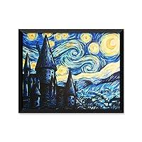 Hogwarts Starry Night Paintingハリーポッター、ポスター、ミニマリストポスター、ホーム装飾、College寮の部屋装飾、壁アート 11x14 Art Print