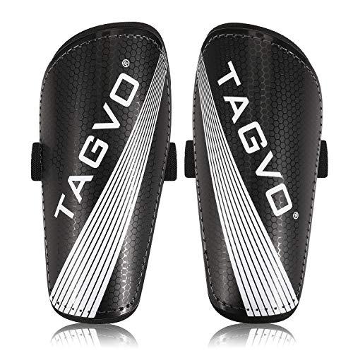 TAGVO - Schienbeinschoner für Fußball in Schwarz, Größe S