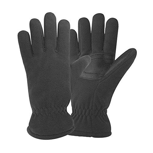 Igloos Men's Insulated Waterproof Fleece Gloves, Anthracite, Large/X-Large