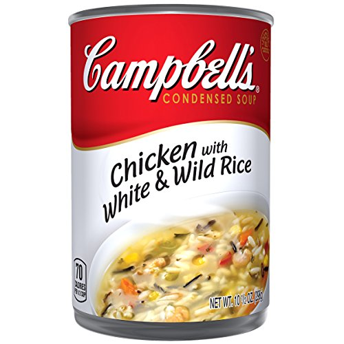 Campbell's Condensed Soup, Chicken with White & Wild Rice, 10.5 Ounce (Pack of 12)