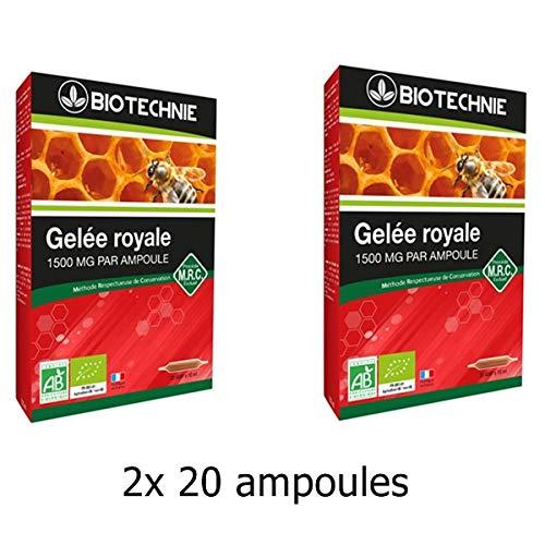Biotechnie Gelee Royale Bio 1500mg - 2*20 ampoules