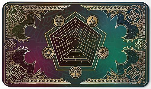URMAGIC MTG Playmat | Mana Blast | Perfekt für Magic The Gathering, Pokemon, Hearthstone, YuGiOh, Anime | TCG Kartenspieltisch Black Mat | Robustes, Dickes Tuch aus Stoff mit Gummioberfläche
