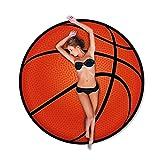 Telo Mare Tondo a Forma di Pallone da Basket Adulto - Diametro 150cm