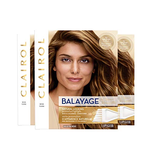 Clairol Nice'n Easy Balayage Permanent Hair Color, Brunettes, 3 Count