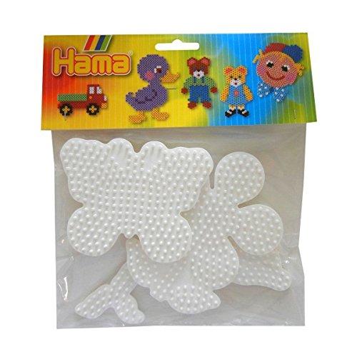 Hama 453 Stiftplatten-Set Blume, Delfin, Schmetterling, 3 Stück